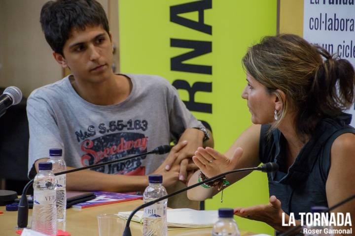 Pau Planas (La Tornada) i Laura Duran (Canet Rock)
