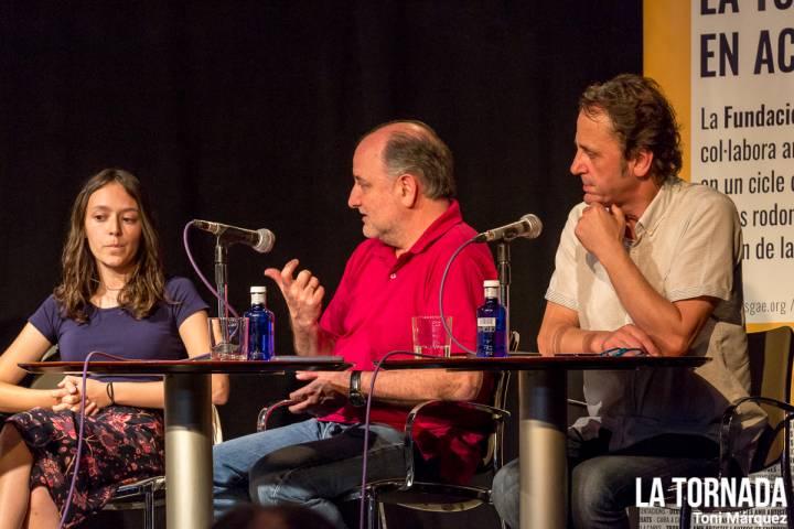 Clara Viñals, Javier de Castro i Jordi Freixes