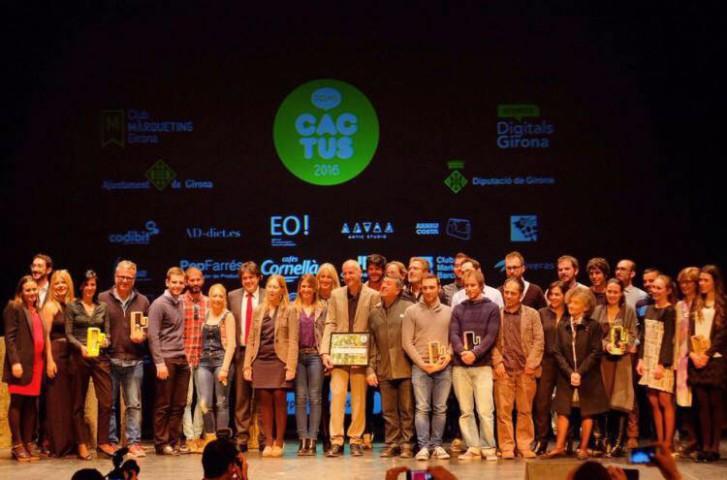 Foto de família dels Premis Cactus