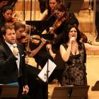 Elena Gadel i Roger Padullés a l'Auditori de Giron